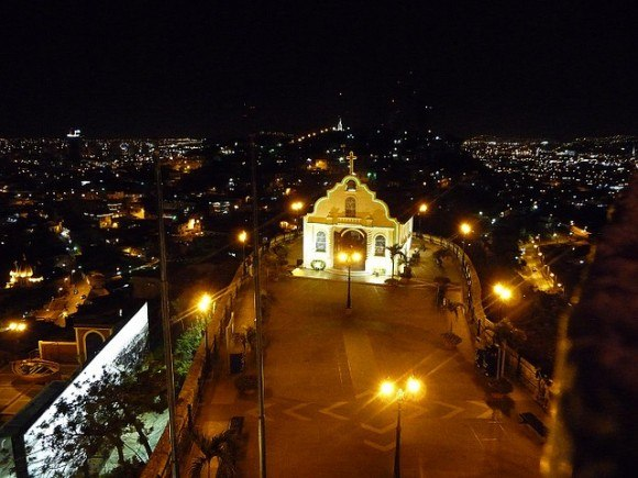 View from Cerro Santa Ana Guayaquil at Night