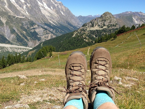 Choosing your walking boots for hiking in Europe Photo: Heatheronhertravels.com