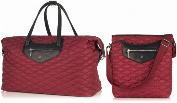 Left: Huntley Weekend Bag £149 Right: Maple cross-body bag £79 from Knomo