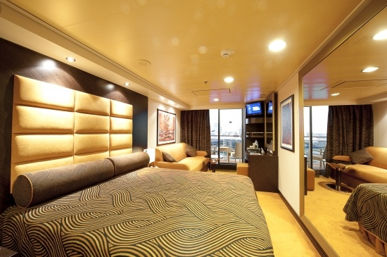 Stylish decor in the balcony cabin on MSC Splendida