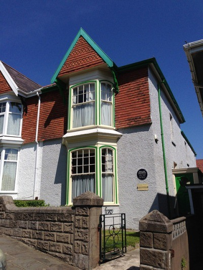 Birthplace of Dylan Thomas, 5 Cwmdonkin Drive, Swansea Photo: Heatheronhertravels.com