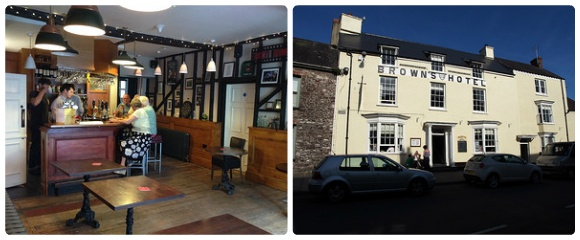 Browns Hotel in  Laugharne