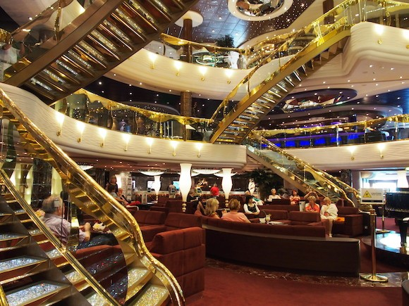 The atrium on board MSC Splendida Photo: Heatheronhertravels.com
