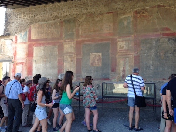 Frescos at Pompeii Photo: Heatheronhertravels.com