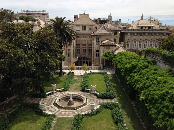 Palazzo Nicolosio Lomellino gardens in Genoa Photo: Heatheronhertravels.com