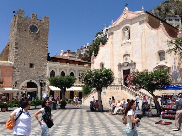 Panorama square in Taormina Photo: Heatheronhertravels.com