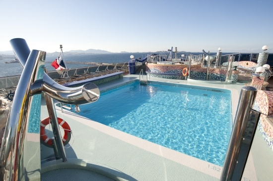 A little fun or relaxation around the pool on MSC Splendida