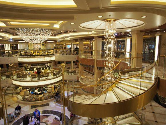 The atrium of Royal Princess