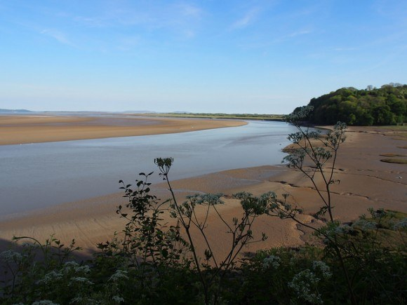 Taf Estuary at Laugharne in Wales