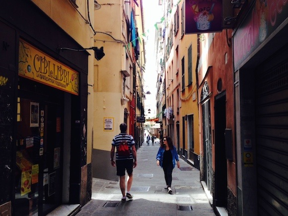 The narrow streets of the old town in Genoa Photo: Heatheronhertravels.com