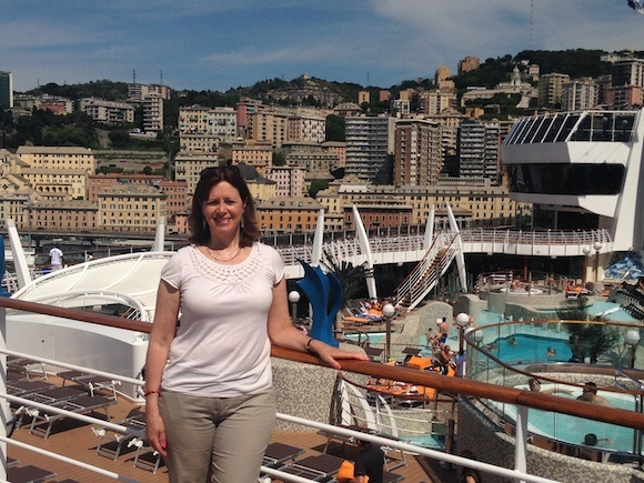 View of Genoa from MSC Splendida Photo: Heatheronhertravels.com