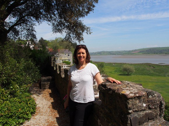 View of the Taf estuary from Laugharne Castle