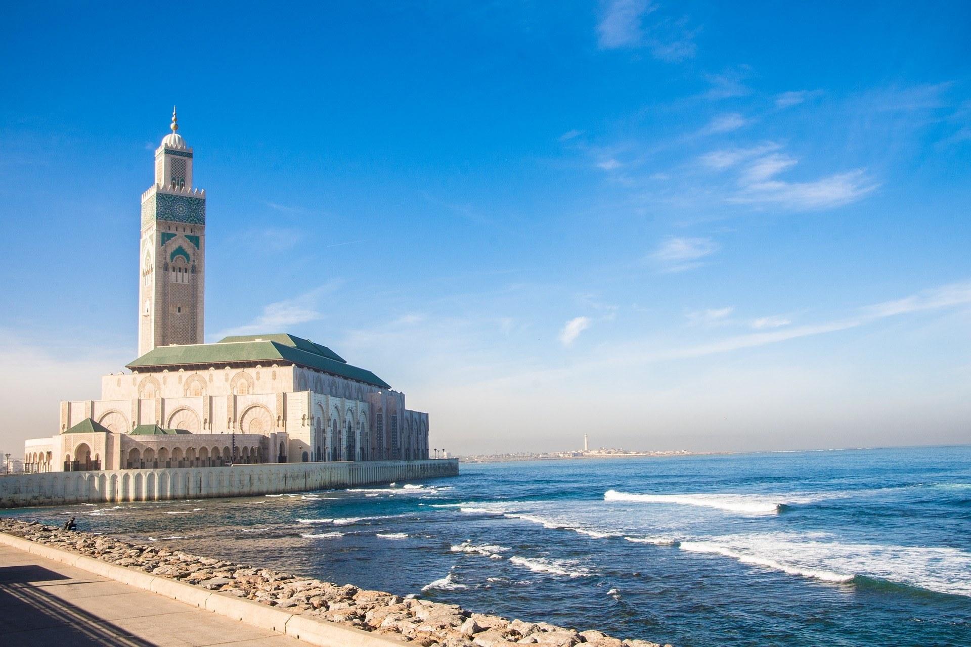 Mosque Hassan II in Casablanca Photo by boredallrounder pixabay