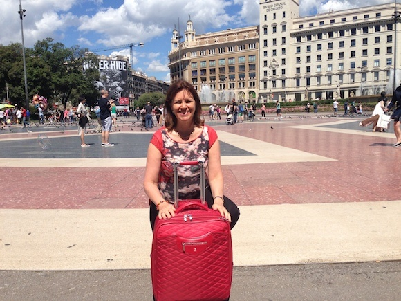 Arriving in Barcelona at Placa de Catalunya Photo: Heatheronhertravels.com