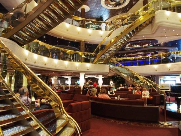 Atrium of MSC Splendida with   MSC Cruises