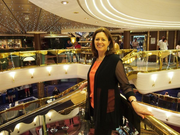 Gala night on MSC Splendida with my Joseph Ribkoff evening jacket