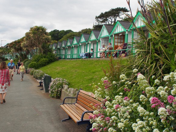 Green Beach huts at Langland Bay, Gower Photo: Heatheronhertravels.com