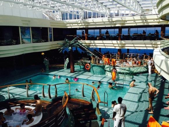 L'Equatore pool on MSC Splendida with MSC Cruises