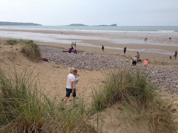Llangennith Beach on the Gower Peninsula, Wales Photo: Heatheronhertravels.com