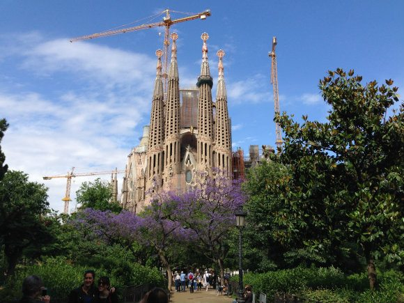 Sagrada Familia in Barcelona on our cruise with MSC Cruises Photo: Heatheronhertravels.com