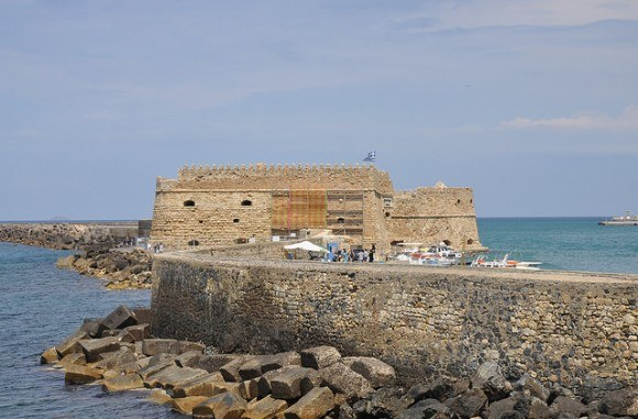Venetian Fortress of Koules in Heraklion, Crete Photo: Wikimedia.org