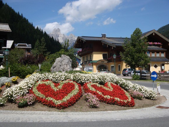 There's everything you need in the village centre at Filzmoos, Austria