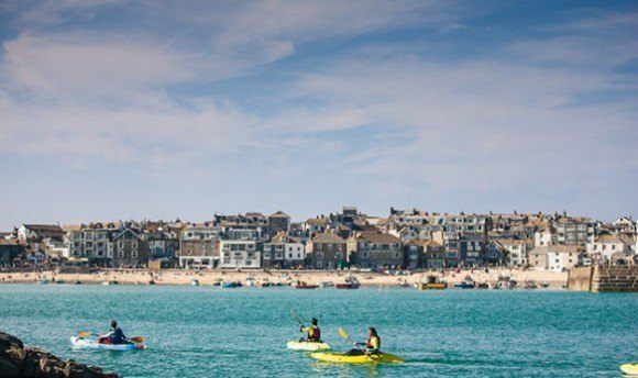Sea Kayaking in St Ives Photo: www.stivessurfschool.co.uk