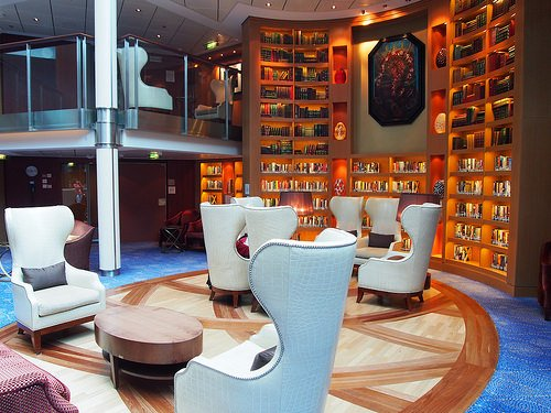 Library on board Celebrity Eclipse Photo: Heatheronhertravels.com