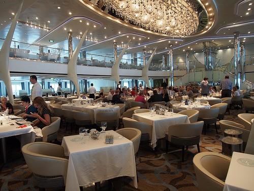 The Main Dining Room on board Celebrity Eclipse Photo: Heatheronhertravels.com