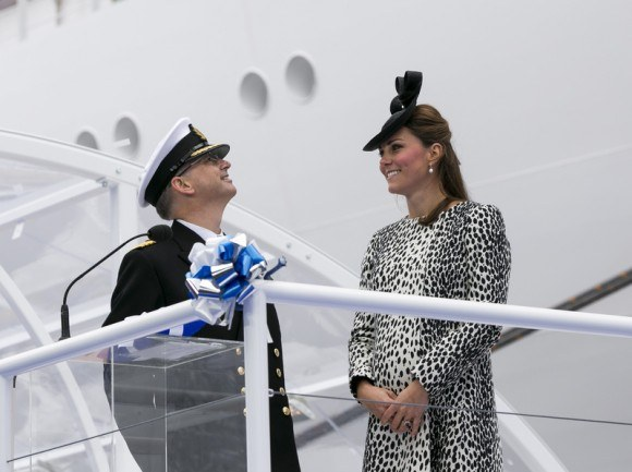 The Duchess of Cambridge at the Royal Princess naming ceremony