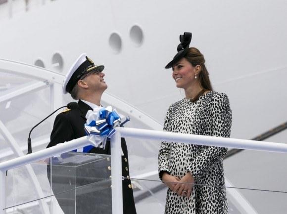 The Duchess of Cambridge at the Royal Princess naming ceremony