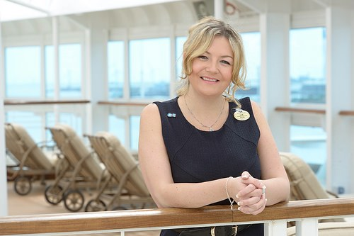"Cruise Director Sam Hawker-Thomas is featured in the ITV documentary ""The Cruise Ship"""
