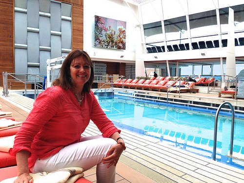 Relaxing in the Solarium on Celebrity Eclipse Photo: Heatheronhertravels.com