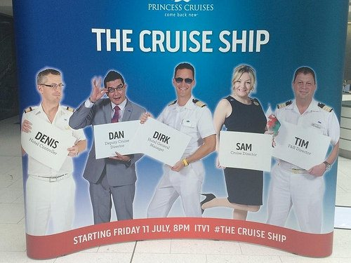 Some of the crew featured in The Cruise Ship ITV documentary