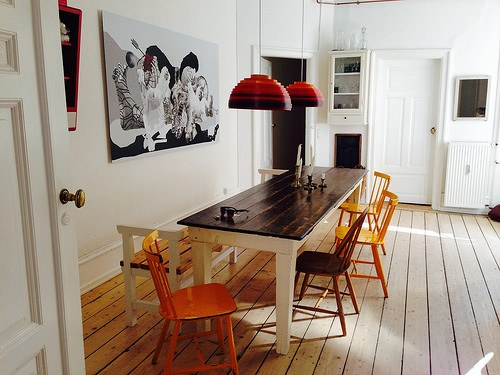 Our cool apartment in Copenhagen rented through AirBnB Photo: Heatheronhertravels.com