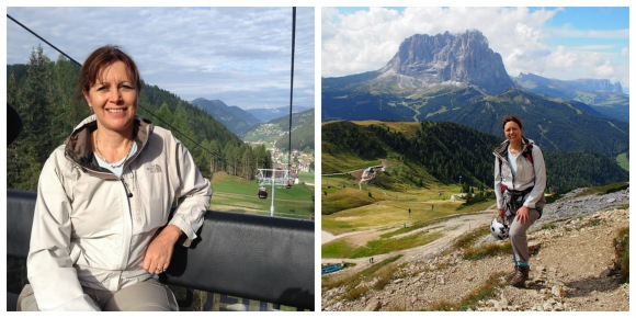 Taking the cable car to the start of Piccolo Cir Via Ferrata in Val Gardena, South Tyrol Photo: Heatheronhertravels.com