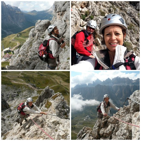 Climbing the Piccola Cir Via Ferrata in South Tyrol Photo: Heatheronhertravels.com