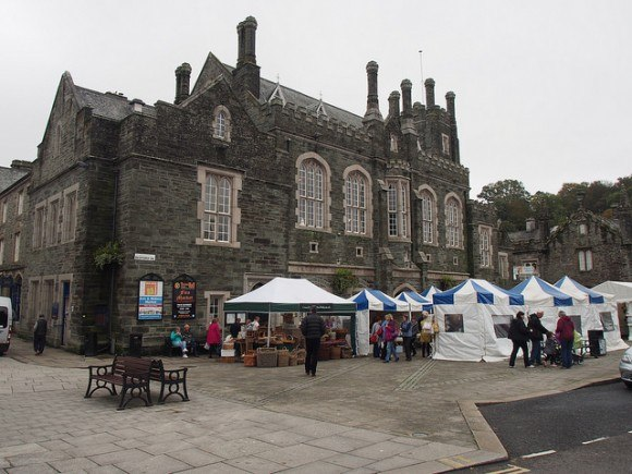 Market in Tavistock, Devon
