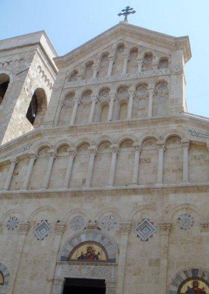 Cathedral facade in Cagliari