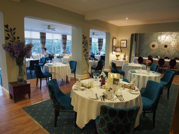 Wildflower restaurant at Moorland Garden Hotel in Devon