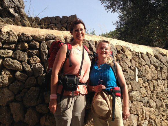 Heather and Julia ready to set off on our walk from Deia in Mallorca Photo: Heatheronhertravels.com