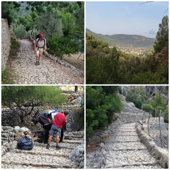 Walking on the dry stone route from Soller to Cuber, Mallorca