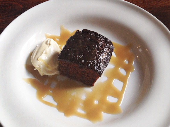 Sticky toffee pudding at the Spaniard's Inn in London Photo: Andrea Duty