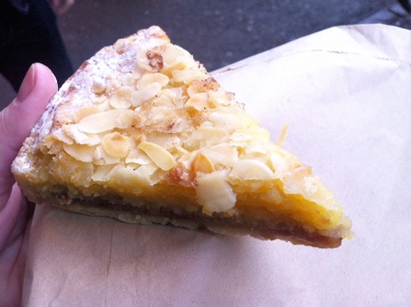 Bakewell tart at Le Comptoir Gourmand Photo: Andrea Duty