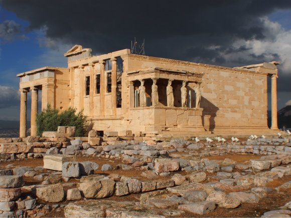 The Erechtheum on the Acropolis in Athens Photo: Heatheronhertravels.com