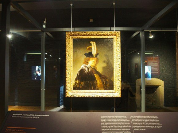 The Rembrandt self-portrait at Buckland Abbey in Devon Photo: Heatheronhertravels