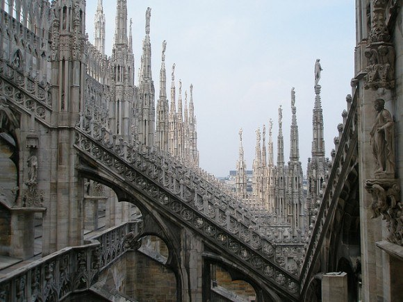 The Rooftops of Milan Cathedral Photo: Stefan Karpiniec on Flickr