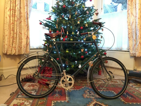 Young Shatterhand Sogreni bicycle makes it home in time for Christmas Photo: Heatheronhertravels.com