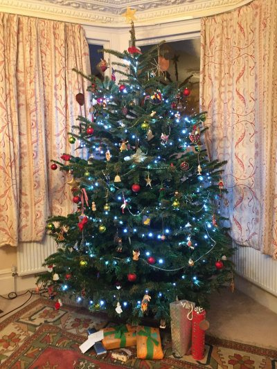 Our Christmas tree, waiting for Father Christmas to bring the presents