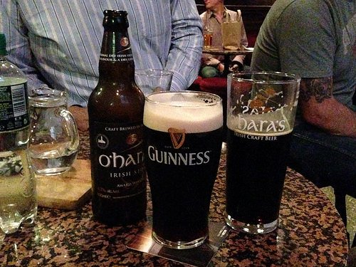 Guinness or O'Hara's - at the Stag's Head in Dublin Photo: Heatheronhertravels.com